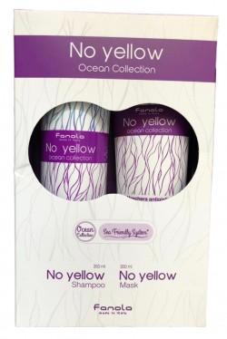 Fanola No Yellow Ocean set - sada šampón No Yellow 350 ml + maska No Yellow 300 ml s extraktom z rias
