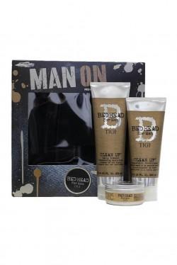 TIGI Bed Head Man On šampón 250 ml + kondicionér 200 ml + vosk 85 g