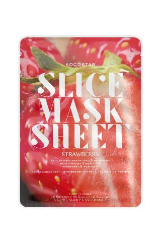 Kocostar Slice Mask Sheet Strawberry pleťová maska 20 ml