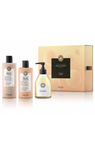 Maria Nila Head&Hair Heal darčeková sada šampón 350 ml + kondicionér 300 ml + tekuté mydlo Ginger 300 ml