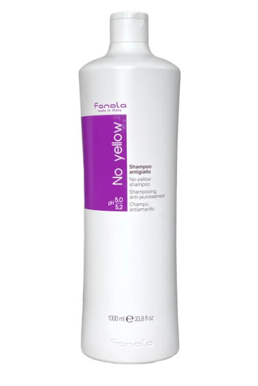 Fanola No yellow shampoo antigiallo šampón na šedivé, zosvetlené a odfarbované vlasy 1000 ml