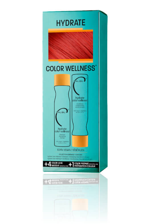 Malibu Hydrate Color Wellness Collection šampón 266 ml + kondicionér 266 ml + wellness sáčky 5 kusov