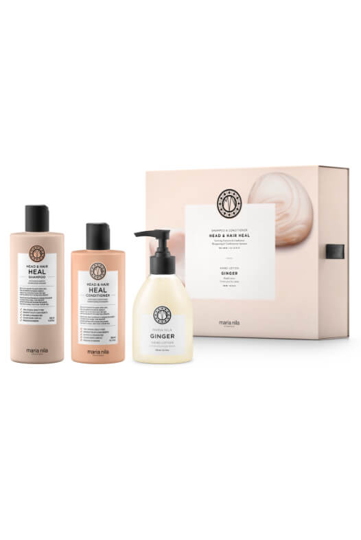 Maria Nila Head & Hair Heal Holiday Box + krém na ruky