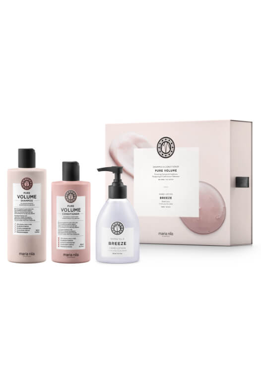 Maria Nila Pure Volume Holiday Box + krém na ruky
