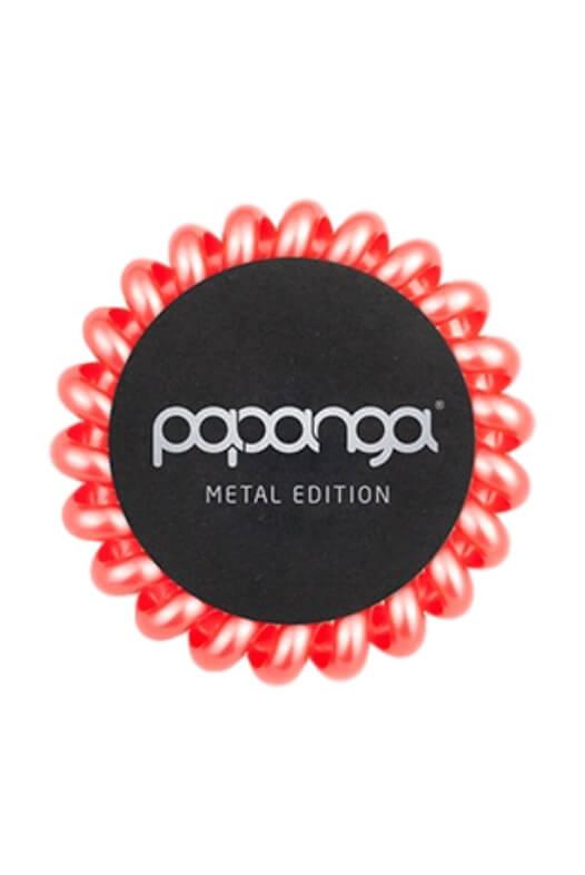 Papanga Metal Edition veľká - koralová červená