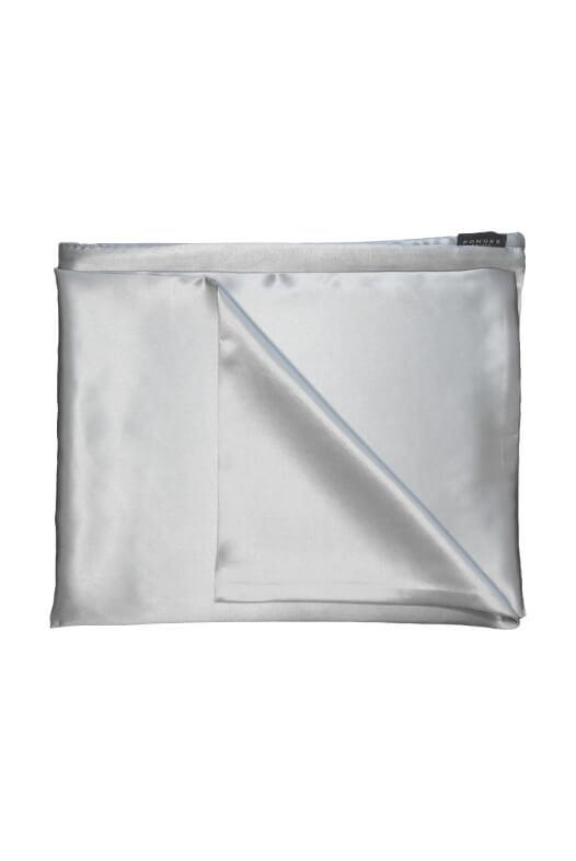 Pongee Pillow Case Silver 65x50 cm